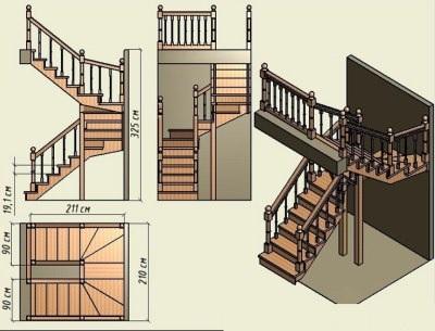 Идеальная лестница для частного дома
