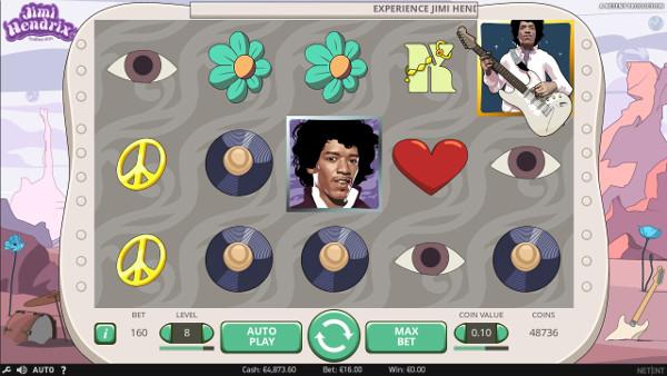 Игровой автомат Jimi Hendrix - большие выигрыши игрокам в Вулкан казино онлайн