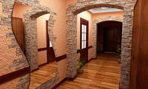 Как собственноручно отделать арку декоративным камнем