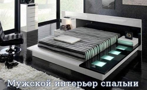 Мужской интерьер спальни