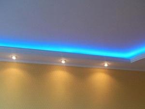 Подсветка потолка как альтернатива люстре