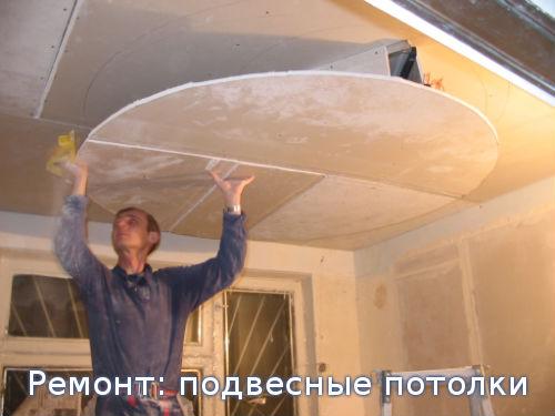 Ремонт: подвесные потолки