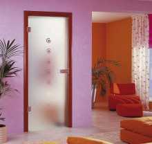 Установка стеклянных дверей в интерьере